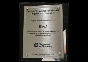 TECNOLÓGICO DE MONTERREY HONRA AL IPAC