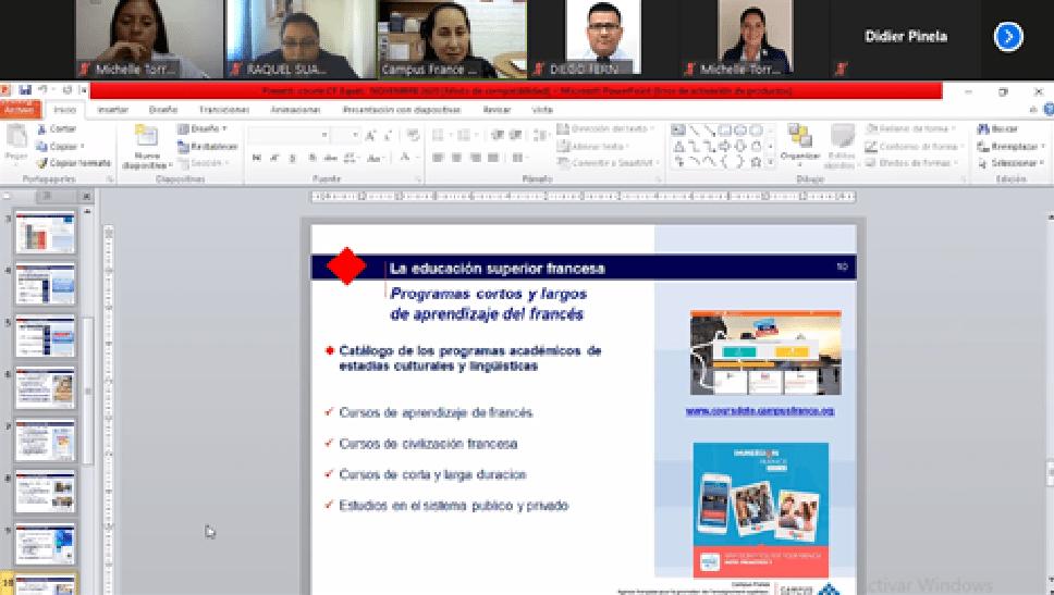 """Sesión informativa de """"Estudios Superiores en Francia"""""""