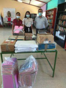 Donación de útiles escolares a fundación fe y alegría - Silla Roja
